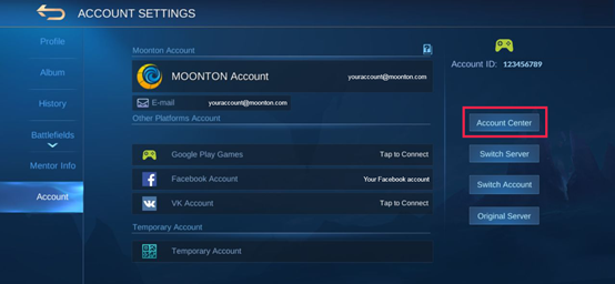How To Change The Password To My Moonton Account